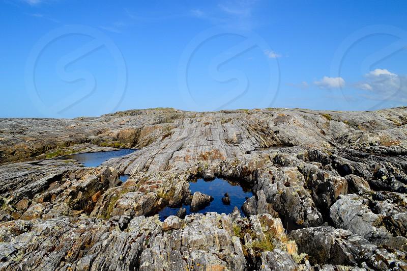 Norway sea cliffs photo