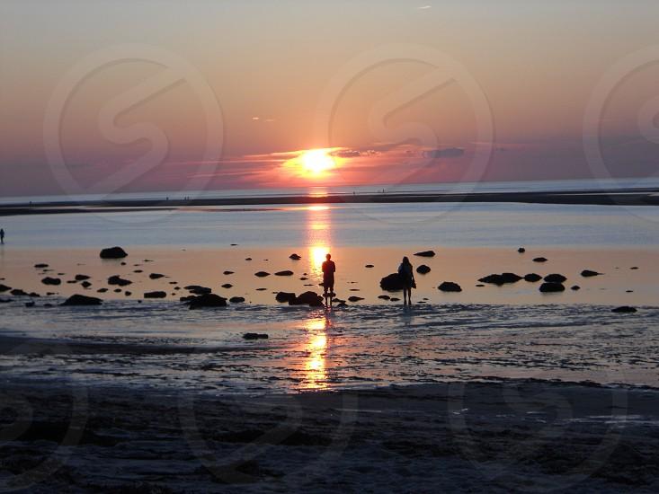 Brewster Cape Cod MA sunset. photo