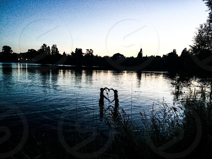 Love minimalism lake swim photo