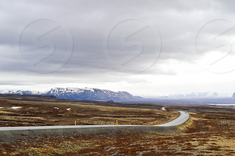 Iceland highway 1 road photo