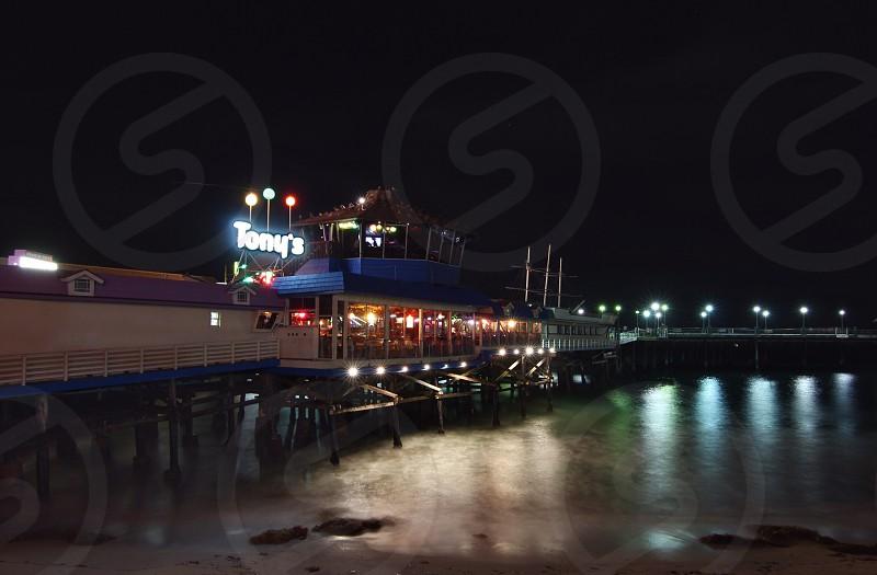 Redondo beach pier long exposure water  photo