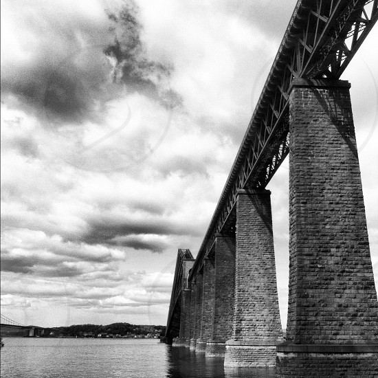 Forth Bridge Queensferry Edinburgh.  photo
