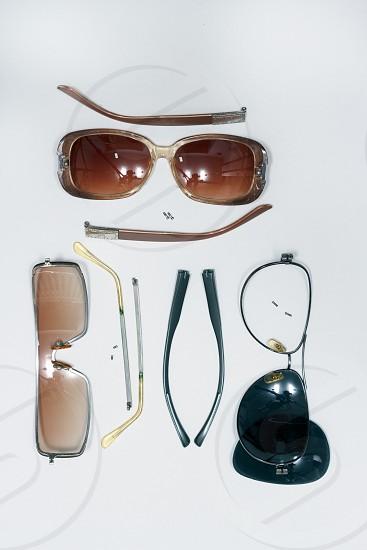 sunglasses parts screws plastic photo
