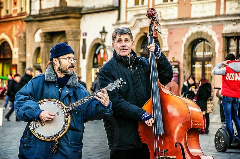 Street musicians performing. photo