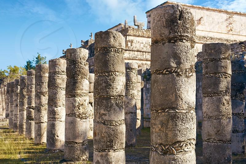Chichen Itza one thousand columns temple at Yucatan Mexico photo