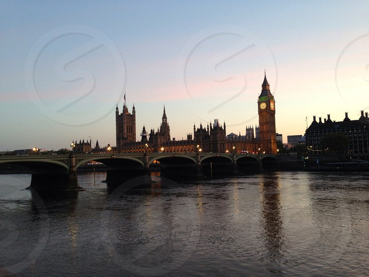 View of London & the River Thames Westminster Houses of Parliament City photo