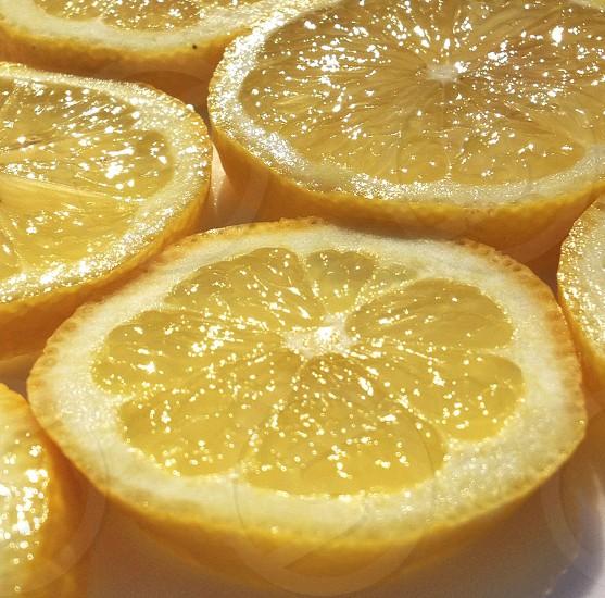 sliced lemons photo