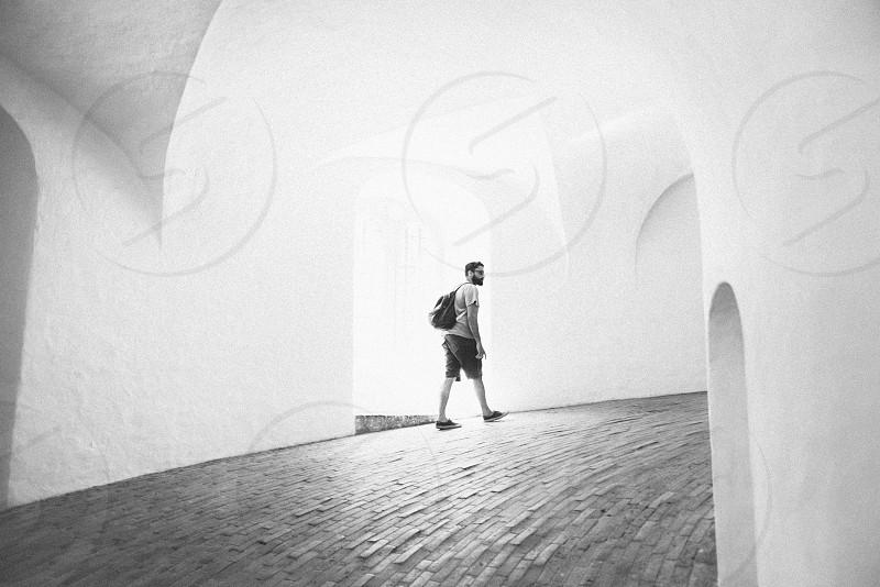 Black and white architecture adventure creative. photo
