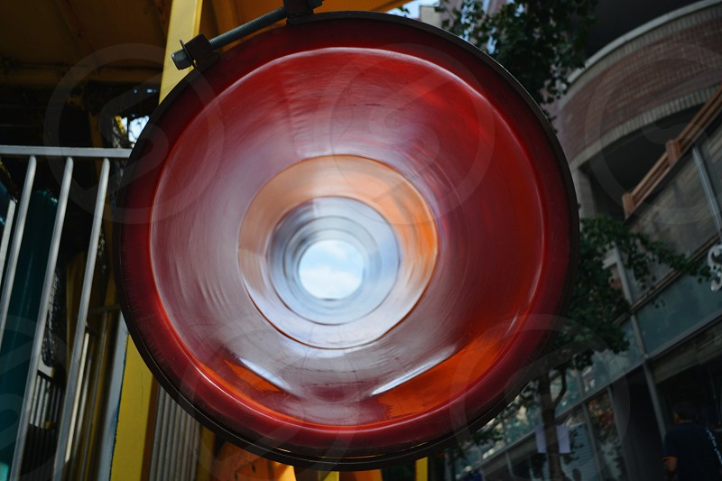 Red Tunnel Slide. photo
