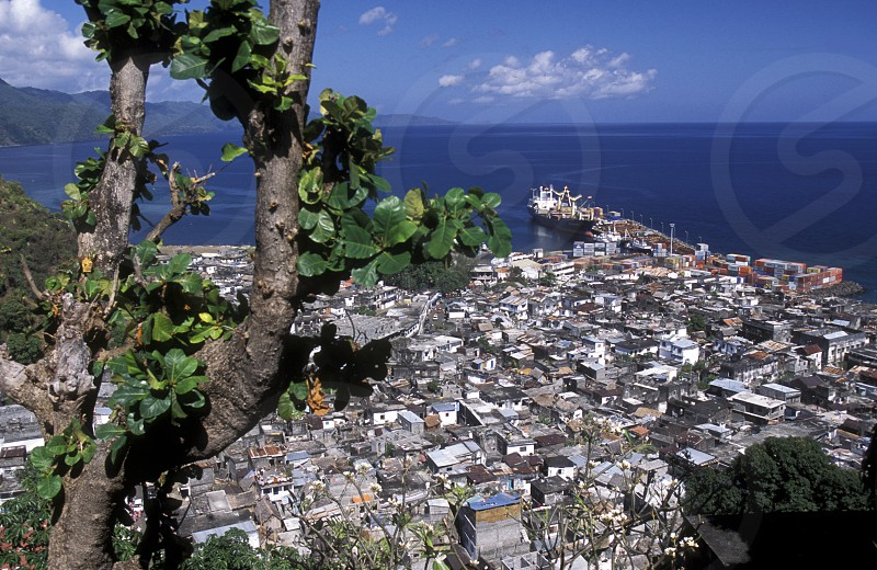 the city of Moutsamudu on the Island of Anjouan on the Comoros Ilands in the Indian Ocean in Africa.    photo