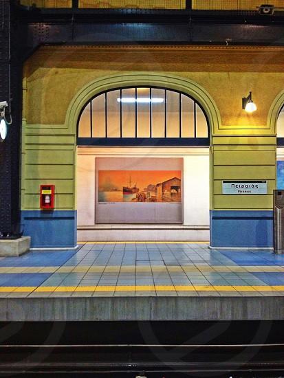 Piraeus train station photo