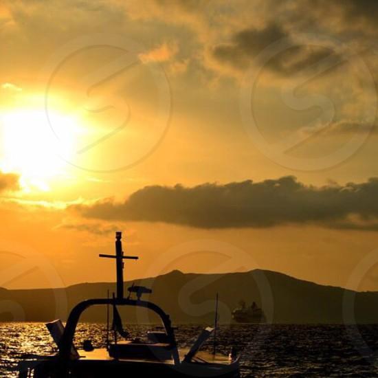 Santorini Greece ocean  photo