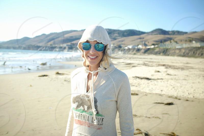 A beachy look on the California coast.  photo