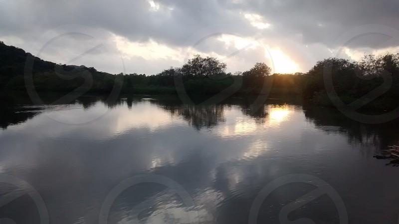 Reflections Nature Peace SunsetClouds photo