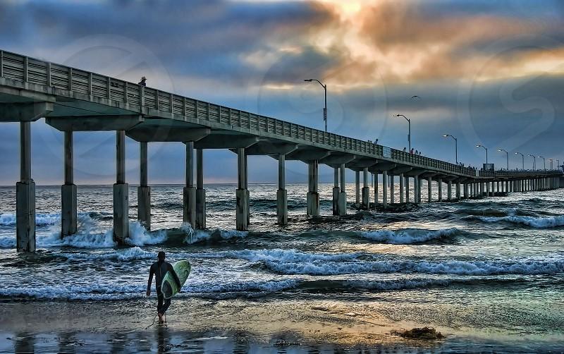 san diego pacific ocean surfing photo