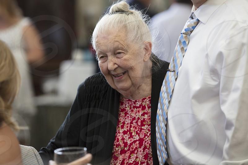 Skin women elderly wrinkles photo