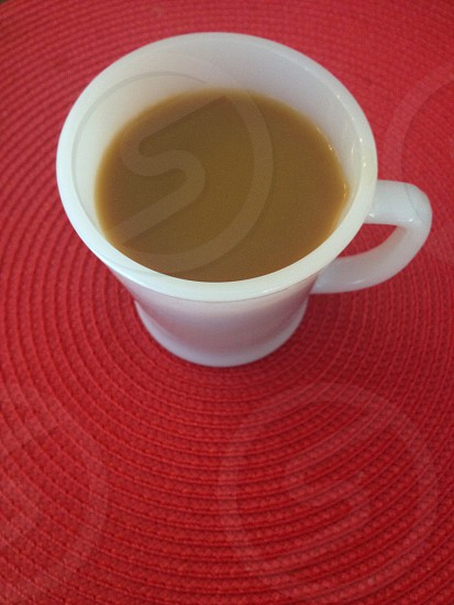 cup of coffee on red photo