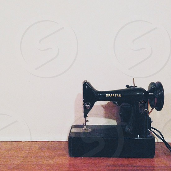 black spartan sewing machine photo