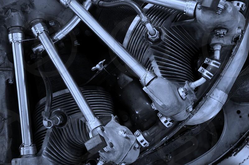 black car engine photo