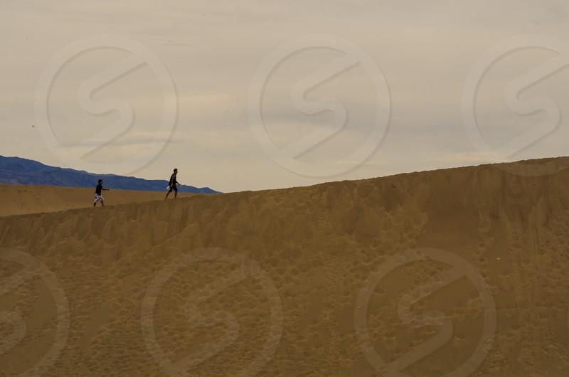 Sand Dunes in Death Valley California photo