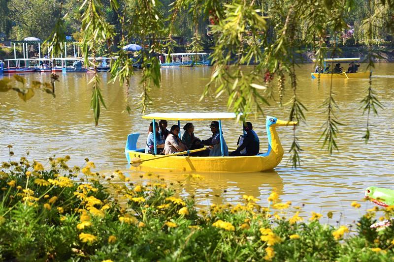 Boat ride at Burnham Park River Baguio City Philippines photo