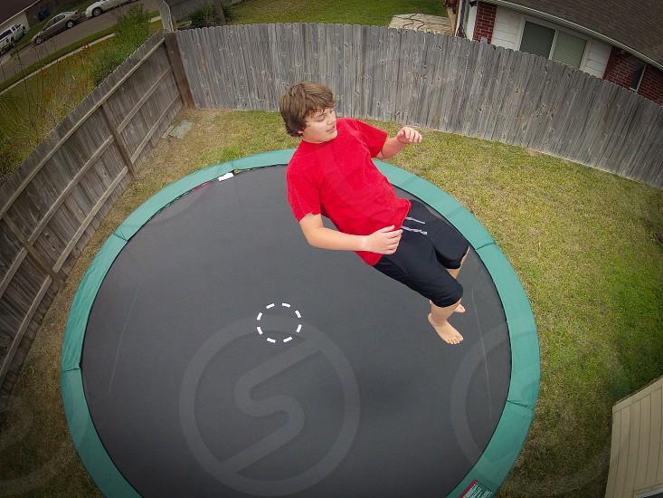 trampoline fun photo