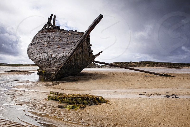 Eddies Boat Seascape Donegal Ireland Decay photo