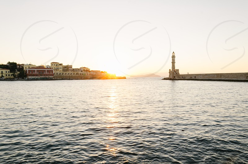 Chania old town harbour photo