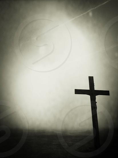 crucifix silhouette photo