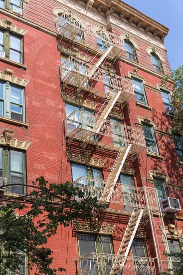 West Village in New York Manhattan building facades USA NYC photo