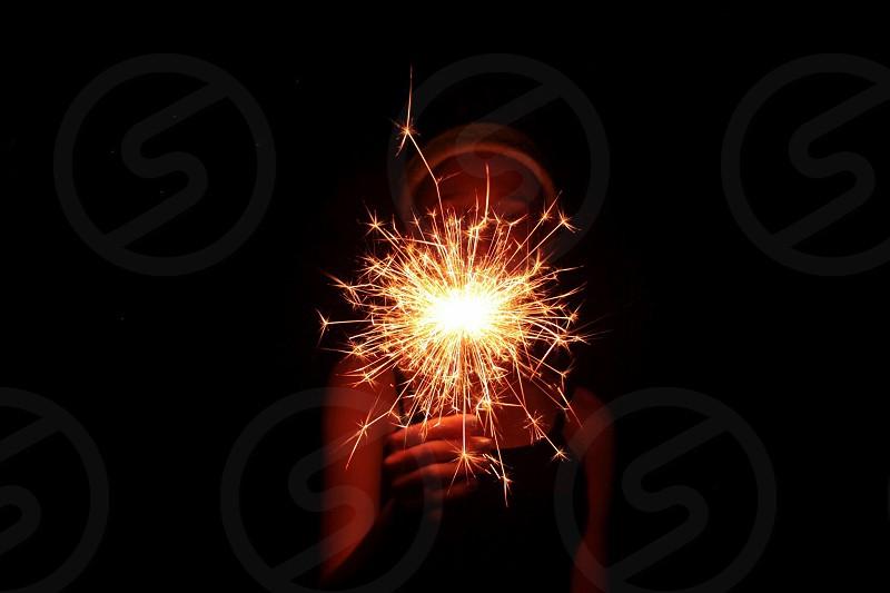 Christmascelebrationfestive sparkler sparks light fireworks  photo