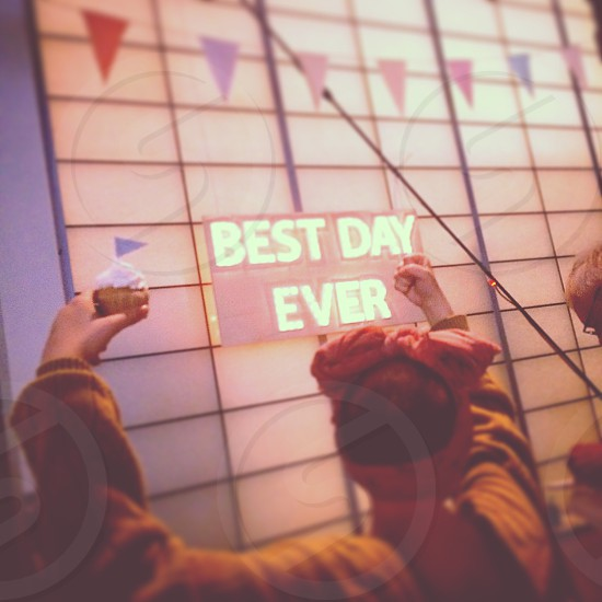 Best Day Ever cake celebrating celebrate celebration cupcake party wedding headband bandana photo
