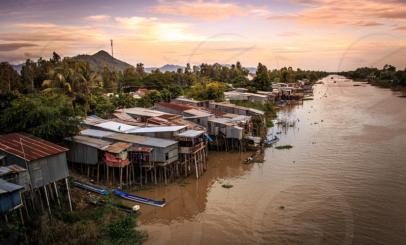 An Giang occupies a position in the upper reaches of the Mekong Delta. The Hau Giang and Tien Giang branches of the Mekong are the dominant geographical features of the province photo