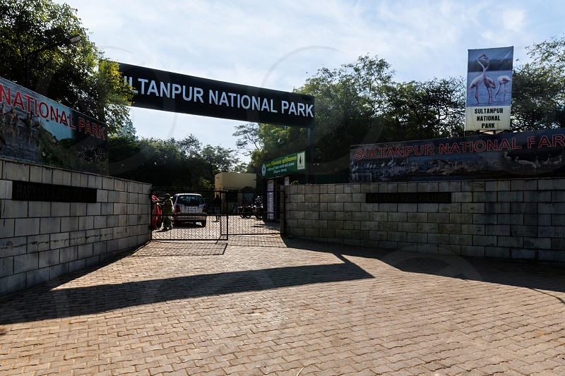 Entry gate of sultanpur national park gurugram photo
