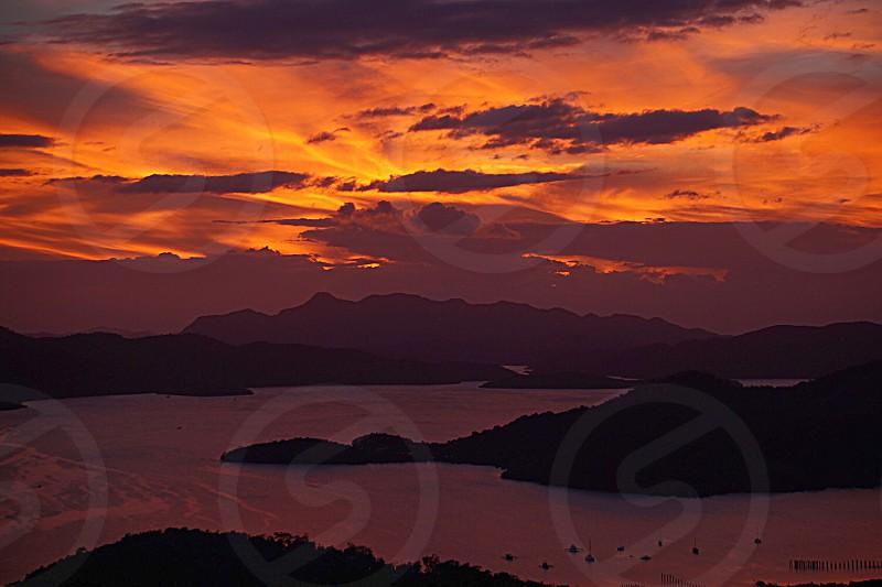 Sunset; nature; island;  photo