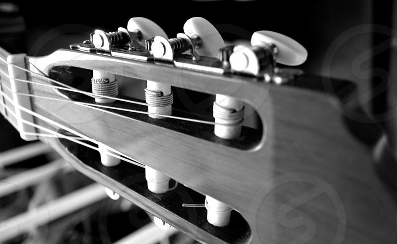 monochromatic guitar instrument music photo