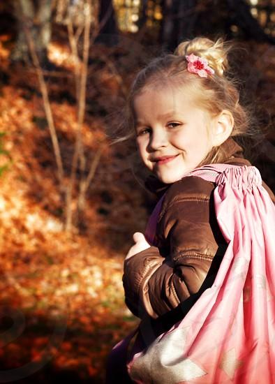 Happy girl child kid photo