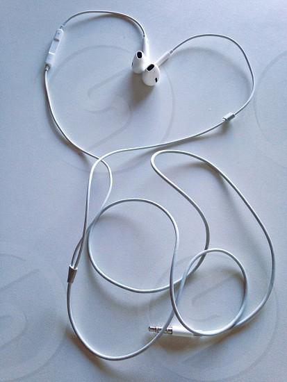 Headphones desk photo