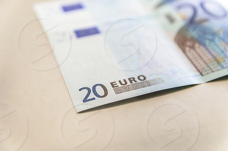 Euro paper money banknote of 20 denomination photo
