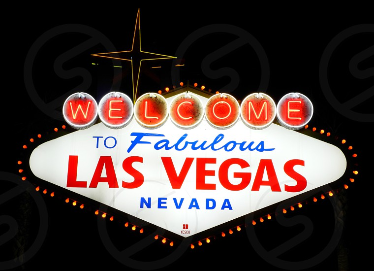 welcome to fabulous las vegas nevada photo