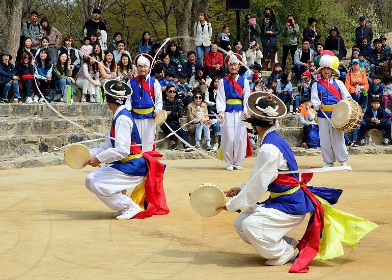 Nongak-A Korean traditional farmers music and dance. photo