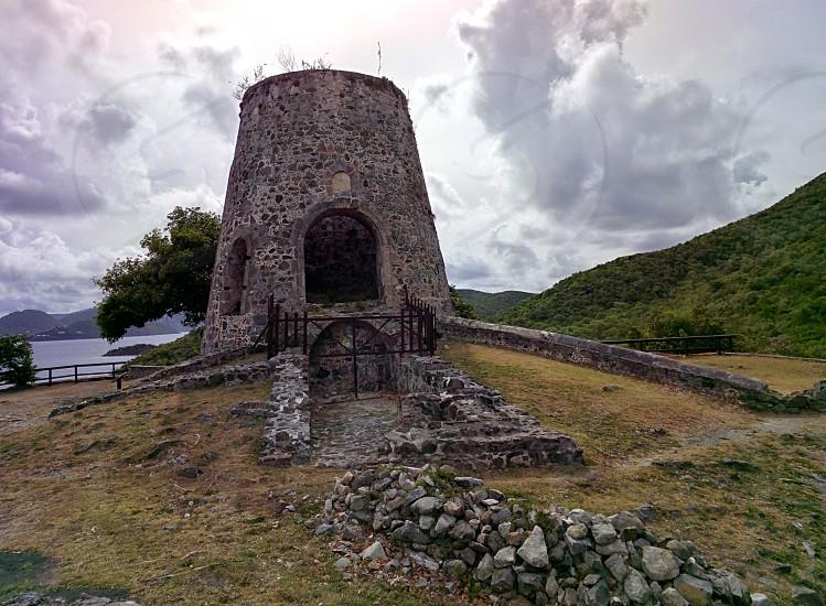 Windmill ruins on St. John USVI photo