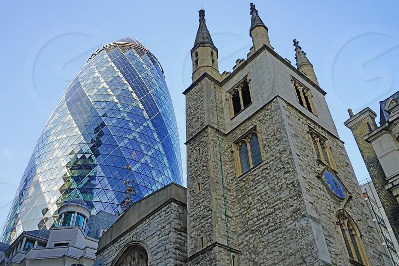 "30 St Mary Axe (aka ""The Gherkin"") - City of London England United Kingdom photo"