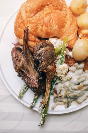 dinner plate round white photo