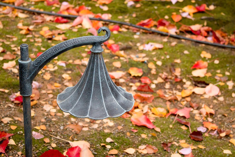 Wrought iron light with autumn colors 2 photo