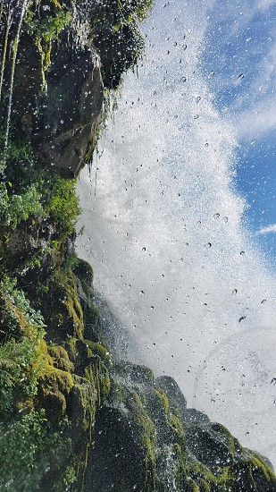 Close up picture of the Waterfall - Thousand Springs State Park Idaho. photo
