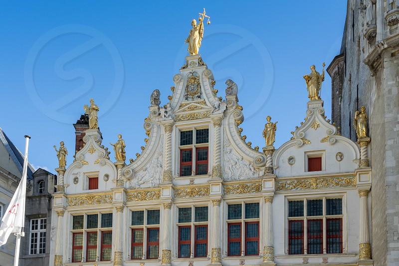 Provincial Palace in Market Square Bruges photo