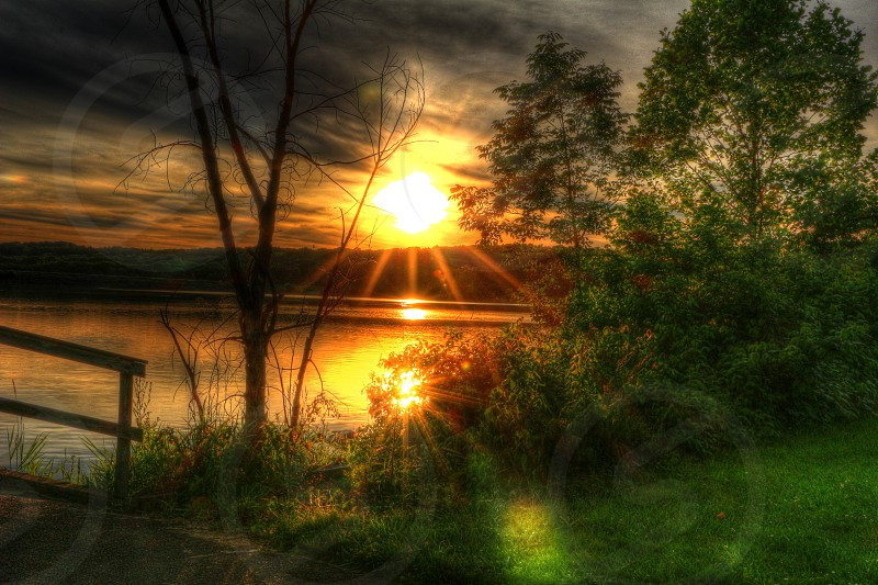 HDR picture of the sunset. photo