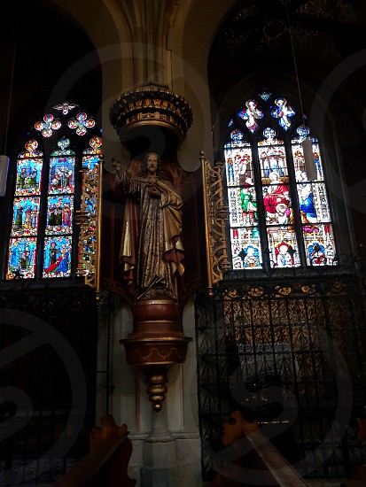 stained glass Catholic cathedral Windows photo