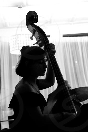 Silhouette musician photo